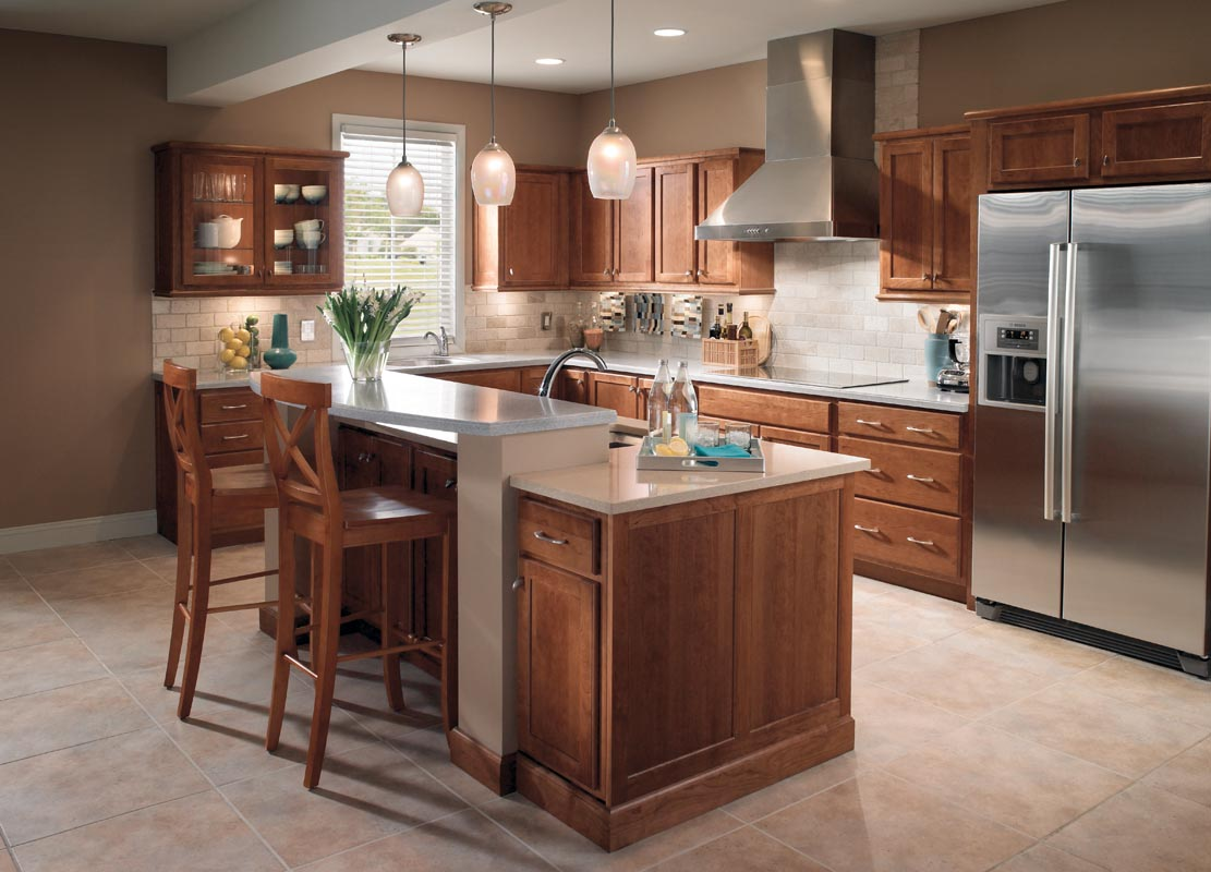 Kraftmaid cabinets authorized dealer designer cabinets for Design kitchen island online